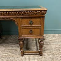 Victorian Oak Antique Pedestal Desk Circa 1890 (3 of 9)