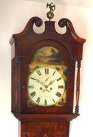 Antique Longcase Clock Fine English Oak Striking Grandfather Clock Painted Dial (3 of 10)