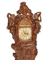 Carved Italian Grandfather Clock Walnut Cherubs (2 of 16)