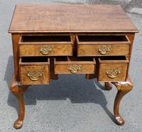 1960s Quality Hand Made Oak Lowboy with 5 Drawers (3 of 5)