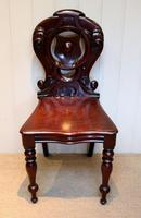 Mid Victorian Mahogany Hall Chair (4 of 8)