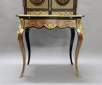 French 19th Century Louis XV Style Boulle Writing Cabinet (4 of 11)