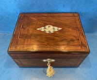 Victorian Walnut Jewellery Box c.1860 (12 of 14)