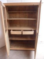 Victorian Antique Pine 2 Door Display Cabinet to wax / paint (9 of 9)