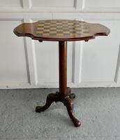 19th Century Inlaid Burr Walnut, Games Table (7 of 9)