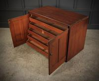 Victorian Pitch Pine Drop Flap Plan Chest (13 of 18)