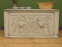 Antique Gustavian Style Window Chest Storage Seat with Carvings (2 of 13)