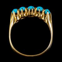 Antique Edwardian Turquoise Ring 18ct Gold Dated 1913 (3 of 7)