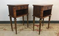 Vintage French Mahogany Cabinets Bedside Tables (4 of 14)