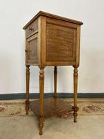 Antique French Bedside Cabinets Marble Tops Walnut Pot Cupboards (8 of 12)