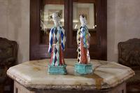 Charming Near Pair of 18th Century Chinese Export Immortals - Harlequin (11 of 11)