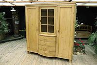 Beautiful! Rare! Old Pine Triple 'Knock Down' Wardrobe (2 of 17)