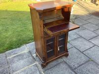Victorian Walnut Sheet Music/ Bureau Cabinet (2 of 5)