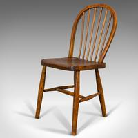 Antique Stick Back Chair, English, Elm, Beech, Station Seat, Victorian c.1870 (8 of 12)