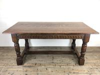 Early 20th Century Antique Oak Refectory Table (M-1739) (15 of 16)