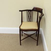 Mahogany Edwardian Corner Chair (3 of 4)