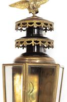 Pair of Well Patinated Bronze & Gilt Bronze Coach Lamps (9 of 9)