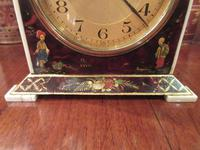 Antique Chinioserie Tortoiseshell Gilt Mantel Clock (9 of 12)