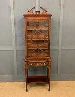 Edwardian Slender Inlaid Mahogany Display Cabinet (2 of 21)