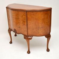 Antique Queen Anne Style Burr Walnut Cabinet (4 of 8)