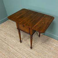 Rare Regency Rosewood Small Antique Pembroke Table (7 of 7)