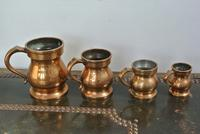4 Gaskell & Chambers Antique Bell Metal Baluster Measures 1/2 Pint to 1/4 Gill (3 of 9)