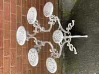 Victorian 19th Century Garden Cast Iron 6 Branch Plant Stand Coalbrookdale Style (4 of 27)