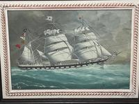 """Edwardian Watercolour """"Champion Of The Seas"""" Ship Black Ball Line Off Cape of Good Hope Signed Pierhead Artist Williams (3 of 39)"""