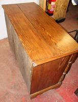 1900s Country Antique Pine Large Mule Chest - Well Polished (4 of 5)