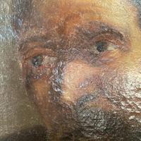 Antique Georgian oil painting portrait of dark haired bearded gentleman (6 of 11)