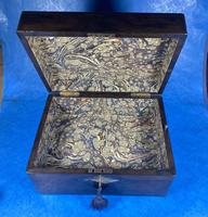 Victorian Ebonised Jewellery Box with Mother of Pearl & Abalone Inlay (9 of 18)
