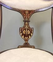 Antique Inlaid Mahogany Occasional Chair (3 of 7)