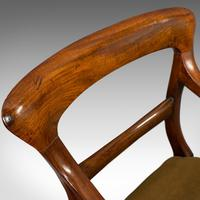 Antique Serpentine Armchair, English, Mahogany, Elbow Seat, Regency c.1820 (8 of 11)
