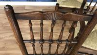 Set of Six Oak Spindle Back Dining Chairs (5 of 12)