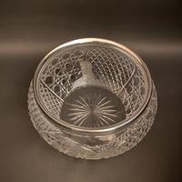 Edwardian Crystal & Silver Rim Bowl (2 of 3)