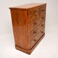 Large Antique Victorian Satinwood Chest of Drawers (14 of 16)
