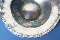 Arts & Crafts Hugh Wallis Hammered Copper & Pewter Spiral Pattern Dish c.1912 (13 of 21)