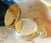 Pocket Watch 1937 Swiss 15 Jewel 9ct Rose Gold Filled Half Hunter FWO (9 of 12)
