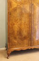 Burr Walnut Dome Top Double Hanging Wardrobe (6 of 9)
