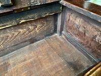 Late 18th Century Box Seated Oak Settle (11 of 19)
