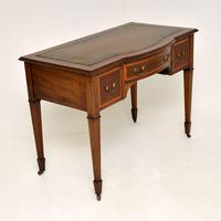 Antique Inlaid Mahogany Desk / Writing Table (8 of 13)