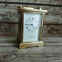 Rare St James London Solid Brass 11 Jewel Carriage Clock