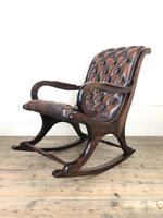 Brown Leather Chesterfield Style Rocking Chair (15 of 15)