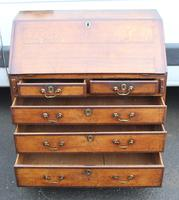 1850's Small Oak Bureaux with Crossbanding around Drawers (4 of 6)