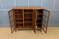 Burr Walnut Bookcase/Side Cabinet (14 of 15)