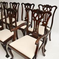 Set of 8 Antique Mahogany Chippendale Dining Chairs (8 of 14)