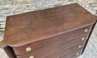 Regency Mahogany Bow Fronted Column Chest of Drawers (9 of 21)