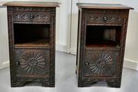 Pair of Breton Oak Bedside Cupboards (2 of 7)