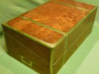 Exceptional FULLY Brass Bound Amboyna Writing Box c.1850 (4 of 15)
