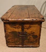 18th Century Pine & Iron Bound Trunk (6 of 7)